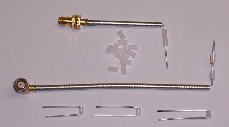 SMA semi-rigid cables, hairpin couplers and spacers