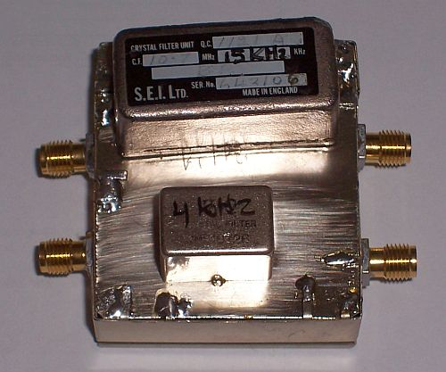 Resolution filters 15KHz and 7.5 KHz (top view)