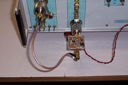 Frequency calibration setup with leveler