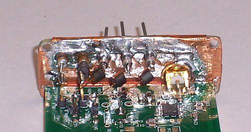 Upper side PLO board with ferrite beads