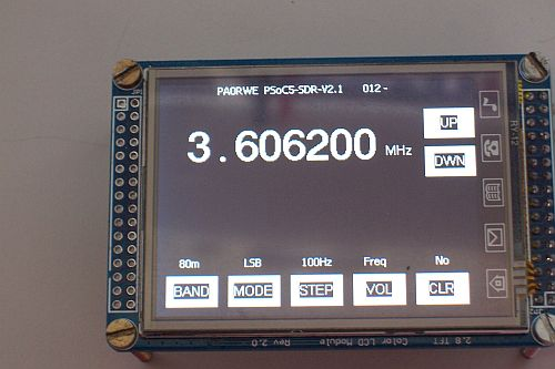 PSoC to TFT module experiments