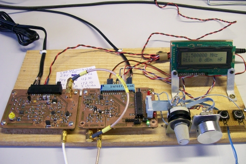 On the left the I/Q module, next to it the Synthesizer module