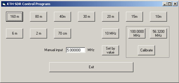 SDR Control software