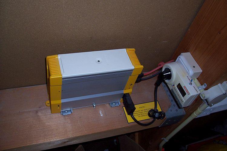 PSI-500 Inverter with Conrad 'Energy Check 3000'