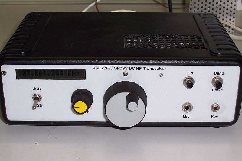 Front view of the transceiver