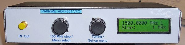 VFO front view