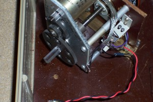 Plastic shaft to isolate the capacitor from the motor