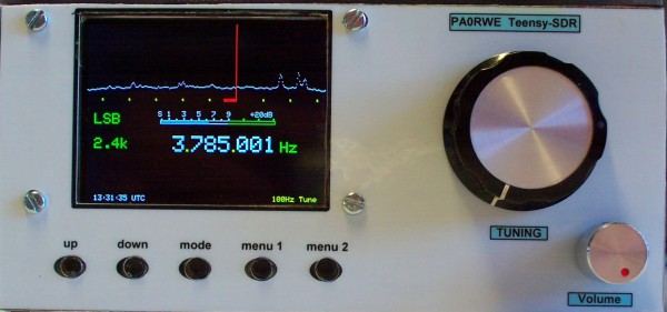 Teensy-SDR complete in enclosure
