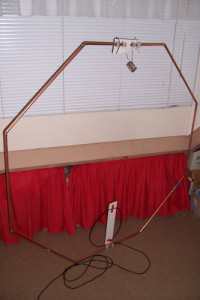 Loop antenna with faraday loop