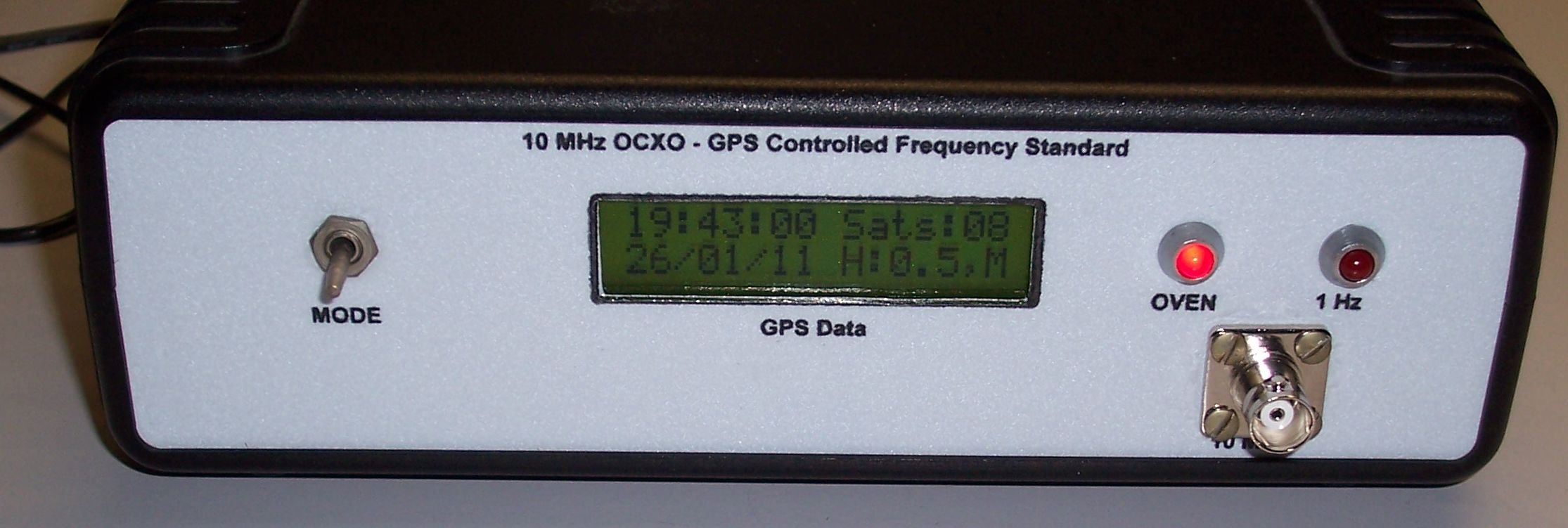 10 MHz GPS Frequency Standard – PAøRWE