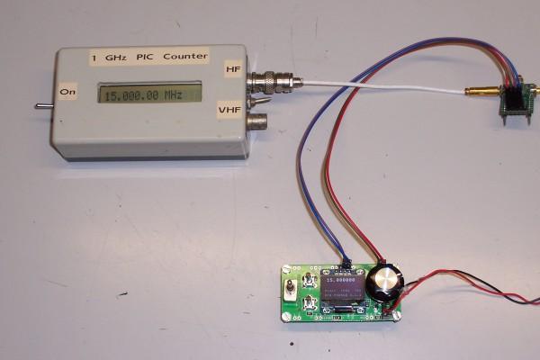 Si5351 VFO test setup