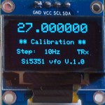 Calibration X-tal frequency