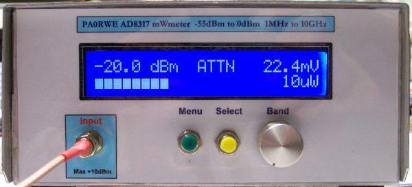 RF MiliWatt meter – PAøRWE